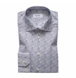 Eton Overhemd blauw grijs contemporary fit