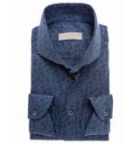 John Miller 5136549-170 overhemd grijs/blauw