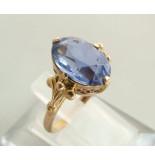Christian Gouden ring met synthetische topaas geel goud