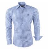 Ferlucci Heren overhemd geblokt calabria wit