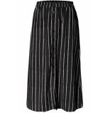 Pieces Pcterese mw midi skirt d2d 17098979 black/white bright zwart