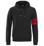 Milestone Pullover captain hoodie zwart