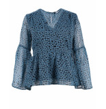 Y.A.S T-shirt 26013119 yasaquilla blauw