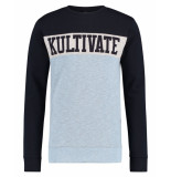 Kultivate Pullover sw bell blauw