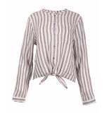 Uno Due Blouse 9204 stripe grijs