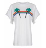Wanderlust T-shirt w911101 rain bow wit