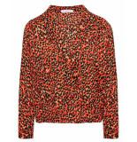My Jewellery Blouse overslag blouse luipaar rood