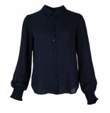 Another Label Blouse d04/219102 rubens blauw