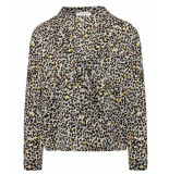 My Jewellery Blouse overslag blouse luipaar grijs
