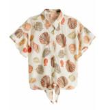Scotch R'Belle Scotch r'belle t-shirt 149569 ecru