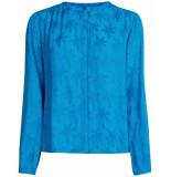 Fabienne Chapot Blouse atlas palmie blouse blauw
