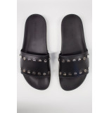 My Brand Studded slipper - zwart