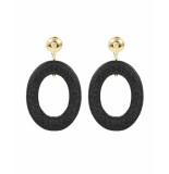 My Jewellery Ketting black round chic earrin zwart