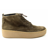 Paul Green 2428 hoge veterschoen taupe