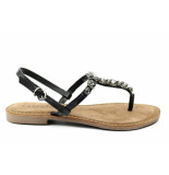 Lazamani 75.342 sandaal zwart