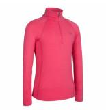 Icebreaker Skipully junior bodyfit 200 mondo zip van merino wol roze