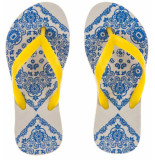 Amazonas /gele kinderslippers enjoy bandana girl blauw
