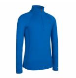 Icebreaker Skipully bodyfit 200 mondo zip van merino wol blauw