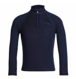 Icebreaker Kinder thermo skipully compass/tech ls half zip blauw