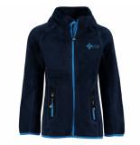 Kilpi Donker teddy jongens fleece vest eris blauw