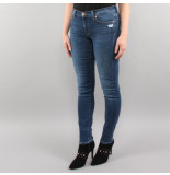 7 For All Mankind The skinny old song distressed blauw