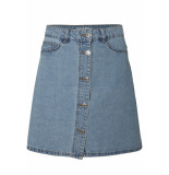 Noisy may Nmsunny shortdnm skater skirt gu124 noos 27001259 light blue denim blauw