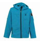 Spyder Electric gebreid vest met fleece voering upward stryke blauw