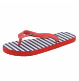 Color Kids Rood/blauw/witte kinder slippers frotty