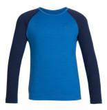 Icebreaker Thermo shirt oasis ls crewe merino wol blauw