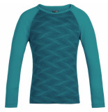 Icebreaker Arctic teal turquoise thermo shirt oasis ls crewe merino wol groen