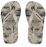 Amazonas Zandkleurige kinderslippers enjoy foliage junior beige