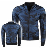 Dissident Heren zomerjas camouflage mcleod blauw