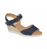Gabor Gabor artikelnummer 22.842-46 sandaal blauw op een sleehakje