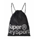 Superdry Rugtas dave black reflective zwart