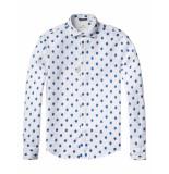 Scotch & Soda Overhemd printed white wit