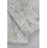 ETTIKA Layered heart ketting - goud