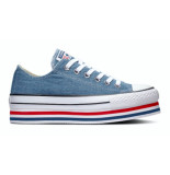 Converse All stars platform layer 563973c blauw