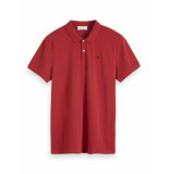 Scotch & Soda Classic polo in pique quality rood