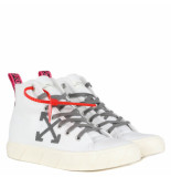 Off White Mid top sneaker wit