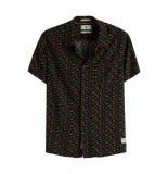 Scotch & Soda Hawaiian fit-printed shortslee zwart