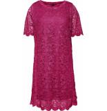 DIDI Kanten jurk met bies roze