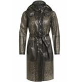 Object Objbiel raincoat pb5 23028377 black/animal zwart