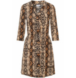 Noisy may Nmsally 3/4 sleeve short dress x4 27007749 black/brown colored beige