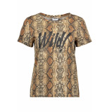 Noisy may Nmwild s/s top x4 27007879 black/snake print zwart