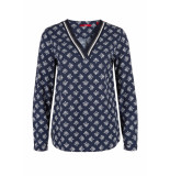 s.Oliver Blouse all over print 14903112110 58c6 blauw