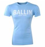 Ballin New York Heren tshirt ronde hals slim fit licht blauw