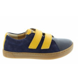 Birkenstock Arran navy-yellow regular natural leather blauw
