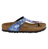 Birkenstock Birki gizeh stars en stripes narrow blauw