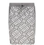 Zoso Simone allover printed skirt 192 grey grijs