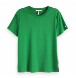 Maison Scotch mercerised tee groen